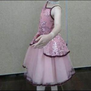 Weissman Pink Sequinned Romantic Tutu Ballet Dance Costume Size Large Child